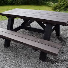 recycled plastic picnic tables recycled plastic standard picnic table second life products
