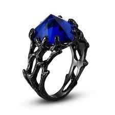 black rings women images New blue and black ring jpg