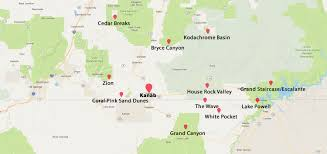 Escalante Utah Map by Explore Basecamp 37