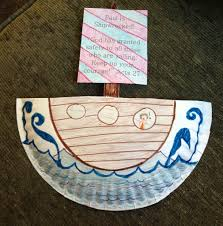paul is shipwrecked acts 27 paper plate craft religious ed
