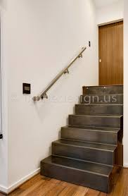 Wall Stairs Design Mark Wa Modern Stainless Steel Cable And Glass Railing