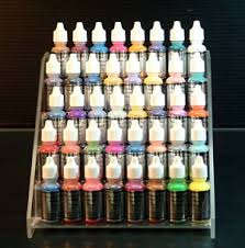 airbrush paints for fingernails in color groups of eight bottles