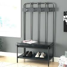 bench coat rack combo plans storage with cherry restoration