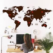 World Map Wall Decal World Map Wall Sticker By Sirface Graphics Notonthehighstreet Com
