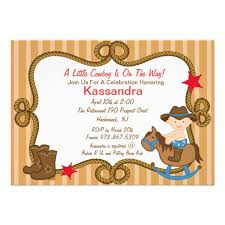 western baby shower personalized western baby shower theme invitations