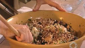 wild rice thanksgiving side dish video cornbread stuffing with wild rice martha stewart