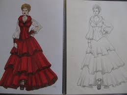 whimsyfunk the red dress illustration