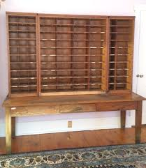 antique post office sorting desk apothecary cabinet vintage