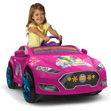 trolls 6v speed electric battery powered coupe ride on walmart com