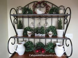 calypso in the country decorated bakers rack christmas
