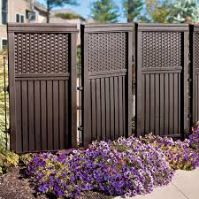 Privacy Screens Woven Resin Privacy Screen