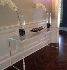 clear plastic console table clear console table plastic home design ideas