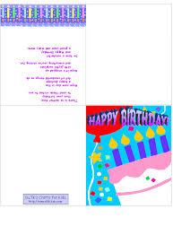 printable birthday cards for kids printable birthday greeting