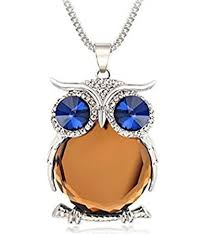 owl jewelry necklace images Exwking trendy owl necklace crystal jewelry statement jpg