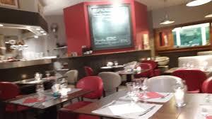cuisine du bar vu de la salle du bar et cuisine au fond picture of le paragraff