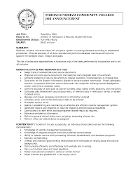 Sample Resume Data Analyst by Job Data Entry Job Resume