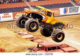 monster jam el toro loco damon bradshaw driver stock photo