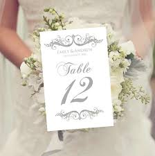 free table number templates wedding table numbers template instant download charcoal gray