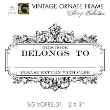 2 x 3 inches vintage ornate frame rubber stamp by studiogdesigns