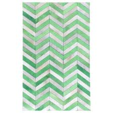 chevron hide rug exquisite rugs chevron hide jade white leather hair on hide rug