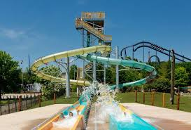 Six Flags St Bonzai Water Slide At Six Flags St Louis Hurricane Harbor Photo