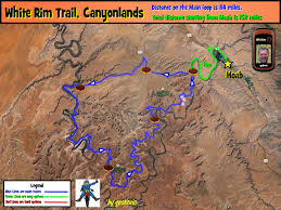 Map Of Moab Utah by White Rim Trail Gpskevin Adventure Rides