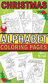 christmas alphabet coloring pages fun christmas activities free
