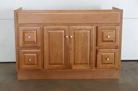 bathroom furnishing design and decoration using solid light oak