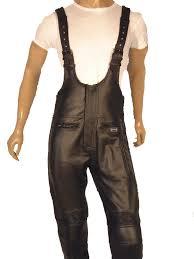 motorcycle waistcoat unisex salopettes dungarees leather salopettes leather bib