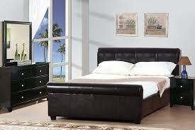 Leather Sleigh Bed Queen Size Mansfield Espresso Sleigh Platform Bed Frame Slats