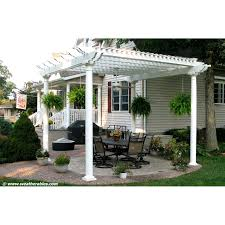 White Vinyl Pergola Kits by Bradenton Vinyl Freestanding 8 Ft Pergola White Walmart Com