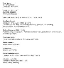 college resumes template college resume for high school seniors