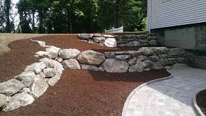 Retaining Wall Landscaping Ideas Rock Wall Landscaping Ideas Fleagorcom
