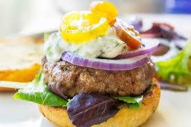 greek lamb burgers with tzatziki sauce recipe simplyrecipes com