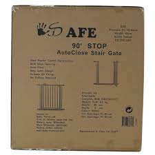 Baby Stair Gates Isafe Deluxe Stair Gate 90 Stop Open U0026 Auto Close Stairgate