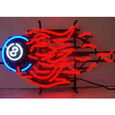 billiards neon sign 100 made in usa manufactured by neonetics