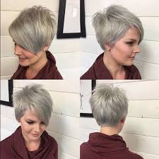 fine hair ombre balayage very short hair a line pixie haircut ombre balayage