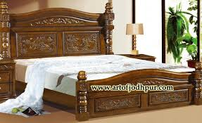 online wooden furniture carved double bed used bed for sale in