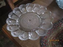 glass deviled egg plate vintage hobnail clear by indiana glass deviled egg plate ebay