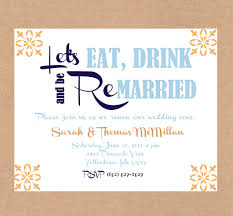 vow renewal invitations vow renewal invitation eat drink and be married anniversary