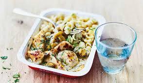 cuisine pates poulet et petites pâtes sauce aux chignons surgelés les plats