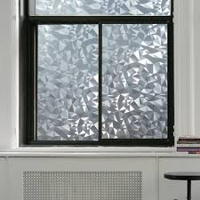 glass door film privacy polygon shape opaque static glass window film privacy decorative