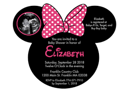 minnie mouse baby shower invitations minnie mouse inspired birthday party invitations