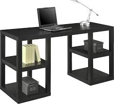 amazon com ameriwood home parsons deluxe desk black oak