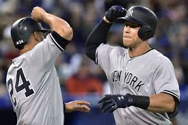 Aaron Judge Gary Sanchez Struggle In Game 1 Loss To Indians Newsday - yankees baby bombers aaron judge gary sanchez excited to compete