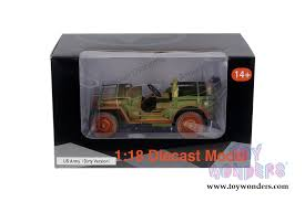 jeep us army jeep vehicle us army version 77404a 1 18 scale
