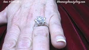 lotus engagement ring lotus flower ring on showing profile of the lotus flower ring