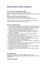 social media policy template gallery u2013 studiootb