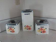 vintage kitchen canister tin canister set ebay