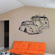 paper wall murals promotion shop for promotional paper wall murals for vw camper van and vw beatle car club vinyl wall decal art decor sticker living room door stencil mural
